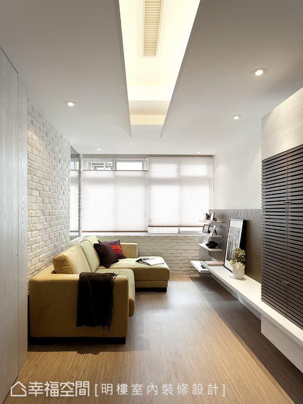 大量利用白色色调,以及大面积的窗户援引自然光,缔造空间延伸的效果。