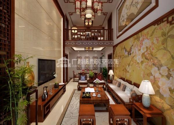 客厅 别墅 中式图片来自广西都市时空装饰小陈在楼中楼客厅的分享