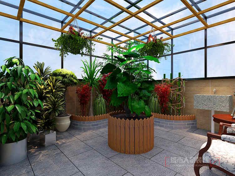经过麻将室到达楼顶,把楼顶做景观,水景,露天烧烤.