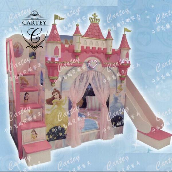 欧式 美式 儿童房 环保漆 收纳柜 城堡床 树屋床 船床 创意儿童床图片
