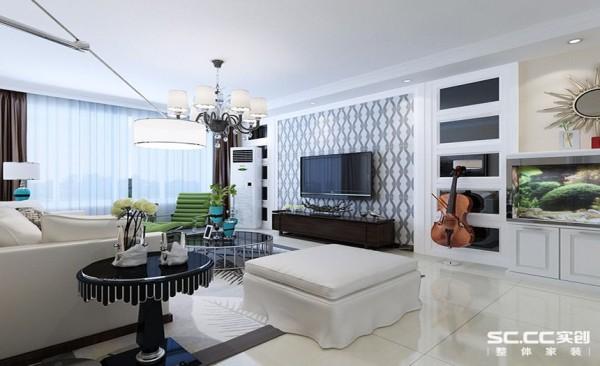 电视背景墙设计: 将设计的元素、色彩、照明、原材料简化到最少的程度,达到以少胜多、以简胜繁的效果。