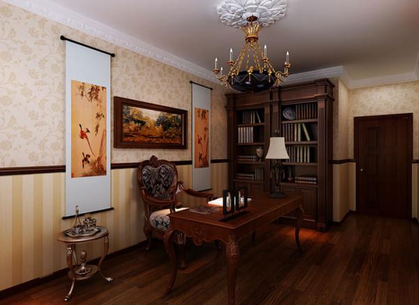 对于书房就是每一位户主最自我的地方,走进书房让每一个人都会感觉得到户主的文化底蕴,以及他高雅的生活情趣,摒弃了繁琐与厚重,兼具欧式的优美造型与欧式的功能配备。