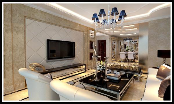 一盏古典式的灯具,为客厅带来一份浓郁的欧式气派,客厅以理石背景突出主题,让人感觉到欧洲隆冬时分,在家拥有的那份温馨暖和。