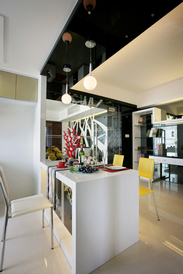 餐厅设计效果,小吧台