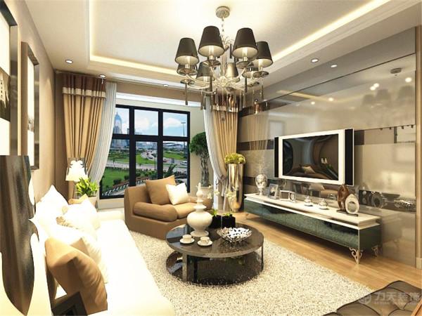 本户型为中建幸福城两室一厅一厨一卫80平米的户型,设计风格为现代简约。