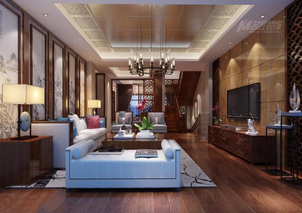 本案在设计上延续了明清时期家居配饰理念,提炼了其中经典元素并加以简化和丰富,在家具形态上更加简洁清秀