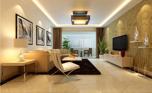 客厅:简洁大方 亮点:客厅的空间比较大,暖色使空间不是显得那么空洞,明朗的线条使空间更加放松,不会有压抑感