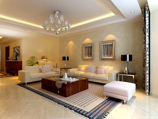 华馨公寓(140平)三居室户型客厅沙发背景图效果图展示