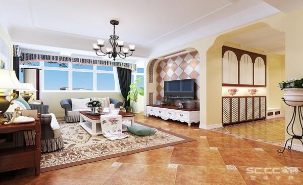 客厅设计: 在室内环境中力求表现悠闲、舒畅、自然的田园生活情趣,巧于设置室内绿化,创造自然、简朴、高雅的氛围。