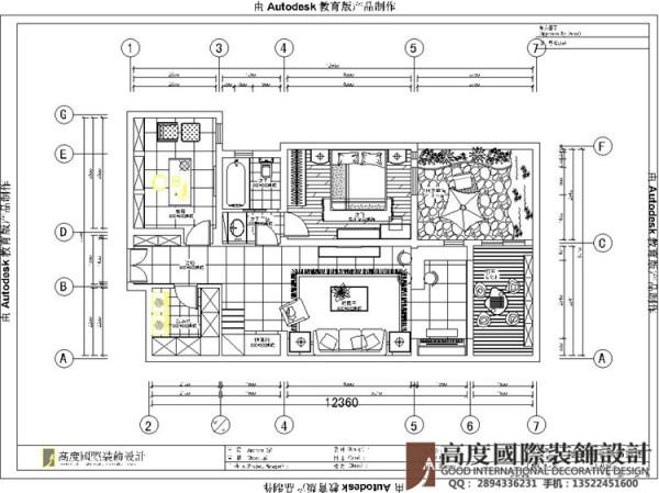 设计说明:特点在于轻装修重装饰,整体色调偏米黄色调,对内部空间进行重组,局部结构改动,将餐厅的位置放在靠近厨房的位置,将原餐厅的位置做为展示空间,丰富了空间的内容,使整个空间更加符合人的生理习惯。