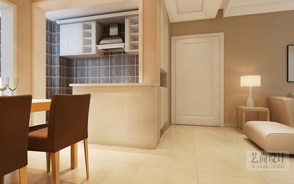 锦艺国际华都两室两厅89平方装修效果图,入户玄关设计案例。