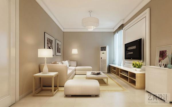 现代简约风格客厅,给人视觉的、精神的享受。白色的沙发、木制的茶几,完美的将时尚与古典融合。