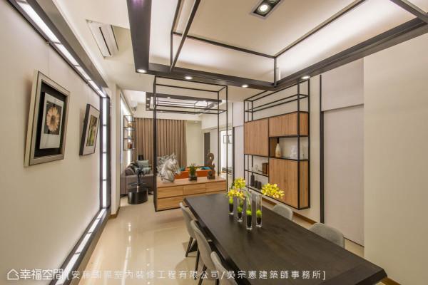 吴宗宪设计师展现精湛的工艺与创意,为屋主勾勒出独一无二的主题,也为空间留下深刻的故事。