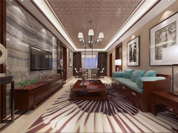 设计理念:在空间设计、材料、色彩搭配、家具饰品陈设上都有中式装饰色彩、元素与现代色彩、元素的碰撞相融合