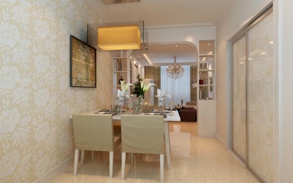 餐厅也一样,没有过多的修饰;做了一组酒水柜隔断,简单而实用,与整体风格协调。