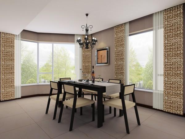 设计师把餐厅设于两处飘窗间,用餐时心情更加愉悦。