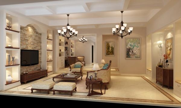 绿洲香格丽花园别墅户型装修欧式风格设计方案展示——上海聚通装潢最新设计案例,欢迎品鉴!