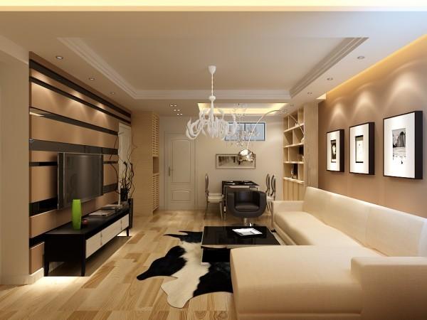 客厅空间不再是一种奢华的展示,而是一种舒适、简约的品质感受,此案例设计师在材质运用上,更注重品质感,在空间处理上,运用展示柜,力求营造一个现代时尚、大气精致的空间。