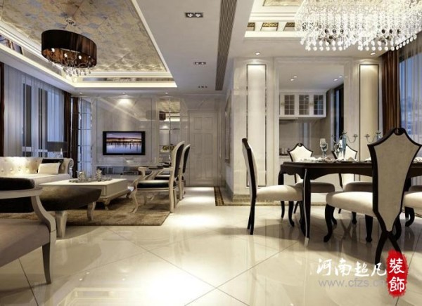 简欧风格以简约的线条代替复杂的花纹,采用更为明快清新的颜色,既保留了古典欧式的典雅与豪华,又更适应现代生活的悠闲与舒适。