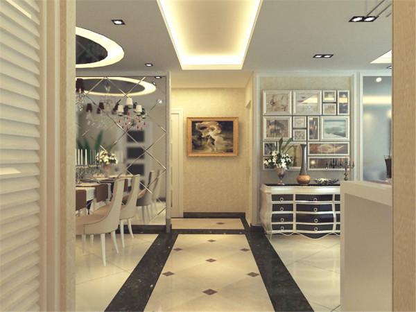 此外在空间内多运用了镜子和具有金属质感的配饰,更加衬托出其华丽的视觉效果。