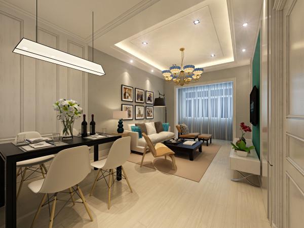 客厅设计: 北欧风格客厅表象具有很浓的现代主义特色,注重流畅的线条设计,体现出一种时尚,回归自然,外加现代、实用。白色的墙面被白色的木地板以及彩色的家具串联起来。