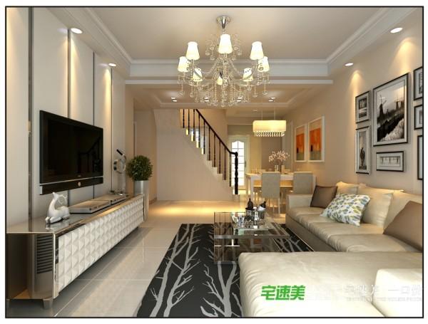 自建三室两厅108平简约风格装修效果图 By宅速美装饰