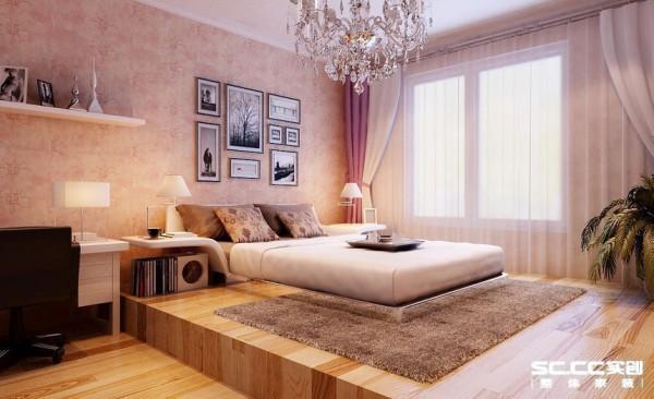 卧室设计: 通过造型顶床头背景及家具的完美结合营造出奢华而又温馨的居所.