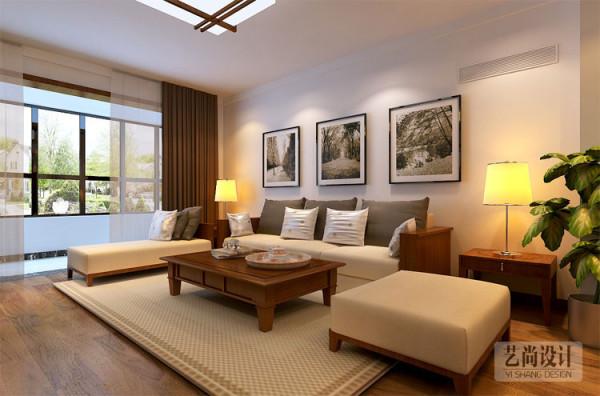 郑州高新区轻工业学院家属院130平方3室2厅装修方案,客厅沙发区装修效果图。施工工期:2个月,施工单位:艺尚装饰。