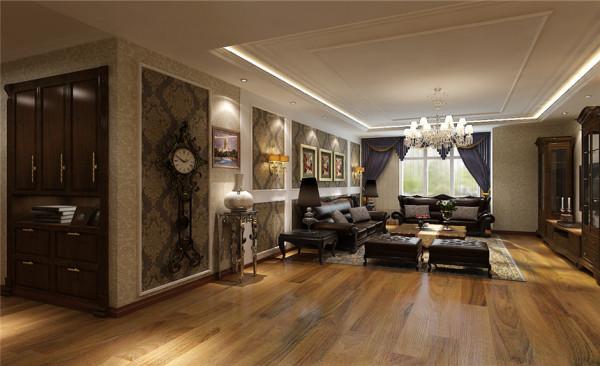 实木的纹理,清新的布艺沙发,复古的壁橱,流露出一股浓浓的美洲风情.客厅朱红色的实木桌椅,朴素花纹的地毯,瞬间给人一种尊贵之感