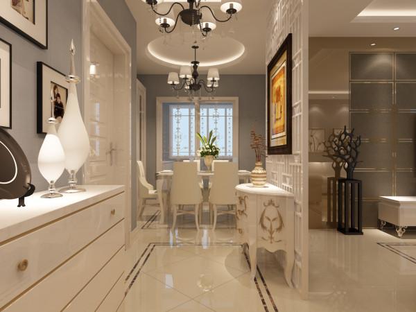 整体空间色彩使用了极具个性的灰色调、永不过时的白色、亮面不锈钢金属色以及电视背景墙的深咖色