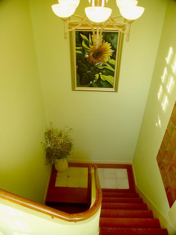 楼梯一角。