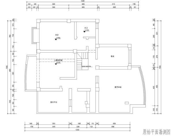 二楼原始户型图
