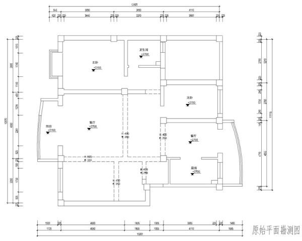 一楼原始户型图