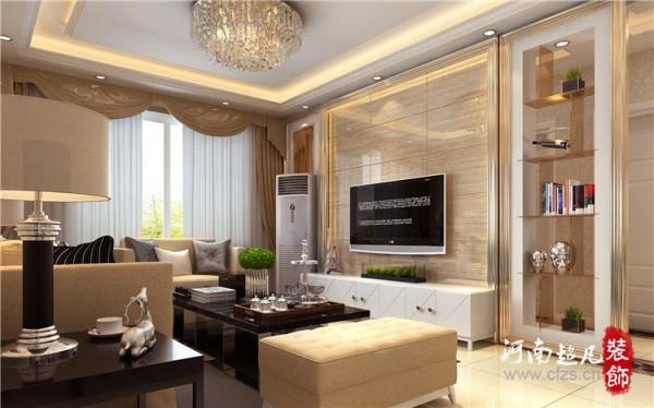 独特的电视背景墙造型,让客户对整体效果很是满意,微晶石材的运用,使得客厅空间的现代感更加强烈,精致的香槟色成品镜框线条,让现代风格的家,简约不简单。