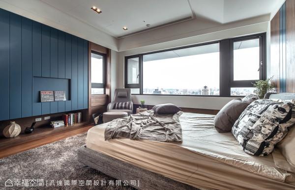 表现最鲜明的轮廓,电视墙立面采用漆面密集板搭配胡桃木机柜,构组出材质的丰富表情。