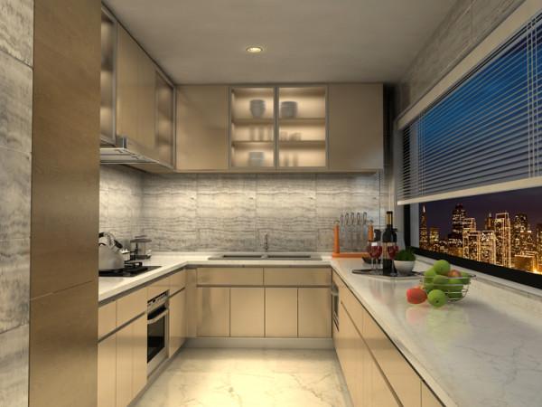 soho现代城三居室户型厨房效果图展示