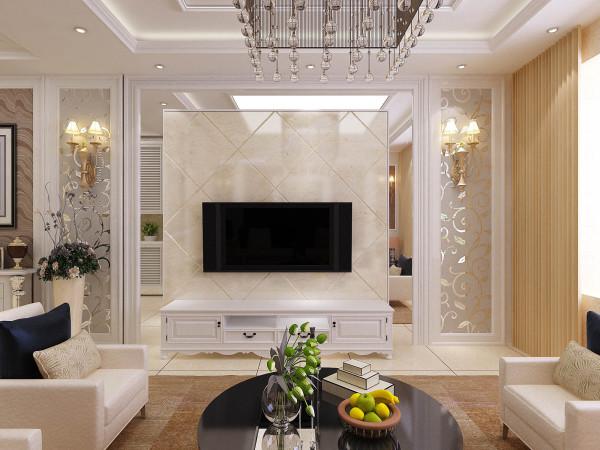 实创装饰 整体家装 馨苑小区 现代欧式 济南装修 客厅图片来自实创图片