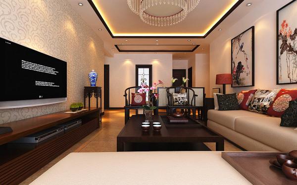 设计理念:主体色调以中式色调为主,室内房间布局紧凑,客餐厅一体,客厅回字形吊顶,搭配实木线条,配上中式装饰画,彰显客户品味。