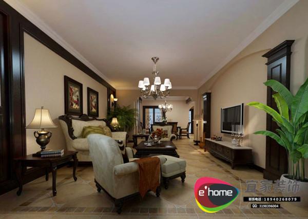 客厅摆放摆脱那种中规中矩的模式,处处体现得非常具有和谐温馨。