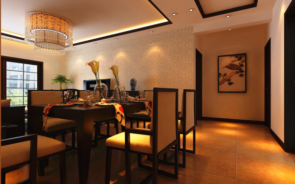 设计理念:小餐厅大享受,家庭氛围更愉悦,餐厅空间虽小,但是功能分区明确,小餐厅大享受,搭配绿植,家庭氛围更加愉悦。