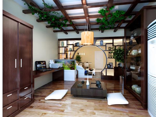 首先从造型设计上来说,使的整个客厅空间简单而又明亮。从色调上又不缺乏温馨,休闲区体现中式内涵,沉稳而不沉闷。