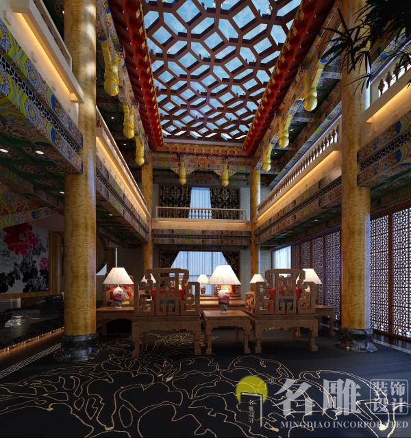 中式古典别墅客厅