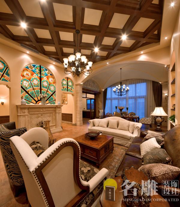 美式田园别墅客厅
