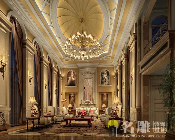 欧式古典别墅客厅