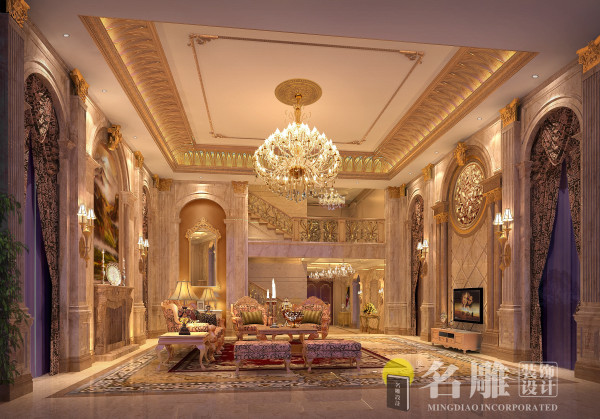欧式奢华别墅客厅