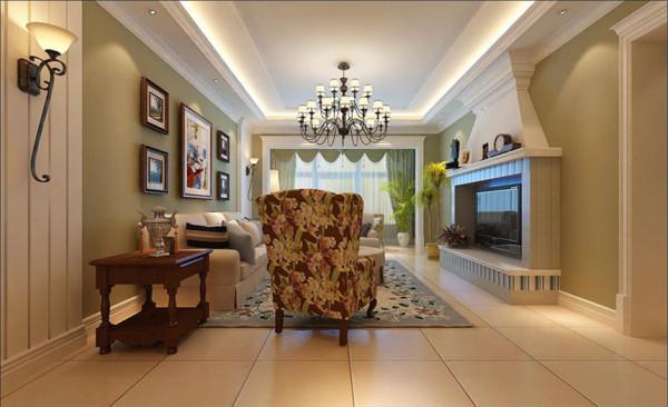 客厅设计: 融入了现代生活元素,体现出豪华大气,惬意和浪漫。