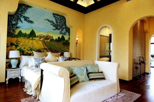 背景墙的设计清新、自然,美丽大方。