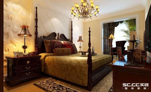 卧室设计: 卧室的白色墙面与具有造型背景墙面处理搭配欧式风格的地毯和具有特色的床散发出的是淡雅清新的现代简欧味道,时尚的白色调沙发与装饰品的摆放,让整个客厅营造出时尚、高贵、轻松、愉悦的视觉感空间