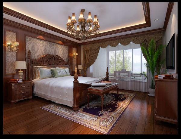 卧室采用与客餐厅不同的地板来处理。自然温馨,光脚踩地上也不会太凉。
