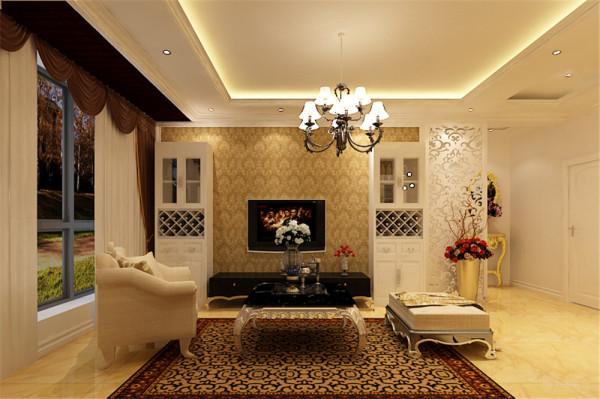 整个空间内外通透,造型简洁,地面采用浅色系的地砖,墙面则是乳胶漆搭配壁纸。